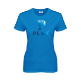Ladies Sapphire T Shirt-P Penn Stacked Foil