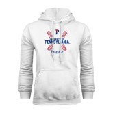 White Fleece Hood-Pennsylvania Baseball Seams