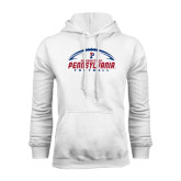 White Fleece Hood-Penn Football Horizontal