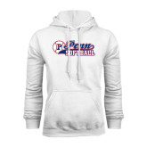 White Fleece Hood-Penn Softball Script