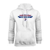 White Fleece Hood-Pennsylvania Track & Field Banner