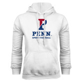 White Fleece Hood-Sprint Football