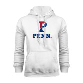 White Fleece Hood-P Penn Stacked