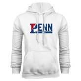 White Fleece Hood-Penn Golf
