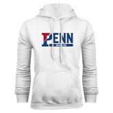 White Fleece Hood-Penn Wrestling