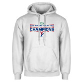 White Fleece Hoodie-2018 Womens Track and Field Champions