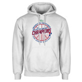 White Fleece Hoodie-2018 Ivy League Mens Basketball