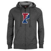 Charcoal Fleece Full Zip Hood-Split P