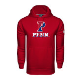 Under Armour Cardinal Performance Sweats Team Hood-P Penn Stacked