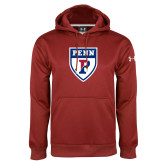 Under Armour Cardinal Performance Sweats Team Hoodie-PENN Shield
