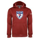 Under Armour Cardinal Performance Sweats Team Hoodie-PENN Shield