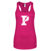 Next Level Ladies Raspberry Ideal Racerback Tank-Split P