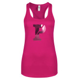 Next Level Ladies Raspberry Ideal Racerback Tank-Split P Foil