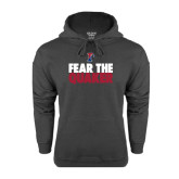 Charcoal Fleece Hood-Fear The Quaker