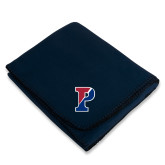 Navy Arctic Fleece Blanket-Split P