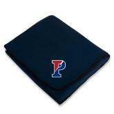 Navy Arctic Fleece Blanket-Split P