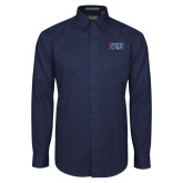 Navy Twill Button Down Long Sleeve-Penn Band