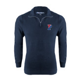 Navy Rib 1/4 Zip Pullover-Split P