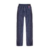 Navy/White Flannel Pajama Pant-Split P
