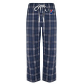 Navy/White Flannel Pajama Pant-Split P