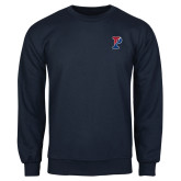Navy Fleece Crew-Split P