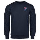 Navy Fleece Crew-Split P