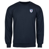 Navy Fleece Crew-PENN Shield