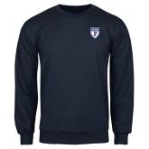 Navy Fleece Crew-PENN Shield