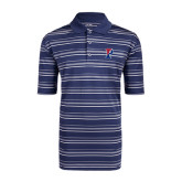 Adidas Climalite Navy Textured Stripe Polo-Split P
