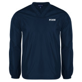 V Neck Navy Raglan Windshirt-PENN
