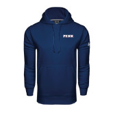 Under Armour Navy Performance Sweats Team Hood-PENN Wordmark