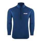Sport Wick Stretch Navy 1/2 Zip Pullover-PENN Wordmark
