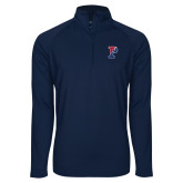 Sport Wick Stretch Navy 1/2 Zip Pullover-Split P