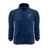 Fleece Full Zip Navy Jacket-Split P
