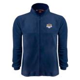 Fleece Full Zip Navy Jacket-The Palestra