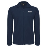Fleece Full Zip Navy Jacket-PENN