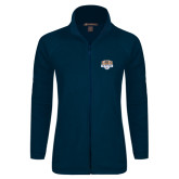 Ladies Fleece Full Zip Navy Jacket-The Palestra