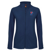 Ladies Fleece Full Zip Navy Jacket-Split P