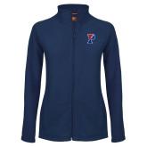 Ladies Fleece Full Zip Navy Jacket-Split P