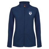 Ladies Fleece Full Zip Navy Jacket-PENN Shield