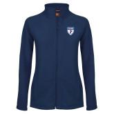Ladies Fleece Full Zip Navy Jacket-PENN Shield