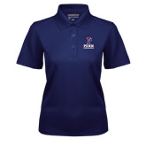 Ladies Navy Dry Mesh Polo-Cheerleading