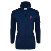 Columbia Ladies Full Zip Navy Fleece Jacket-Split P