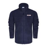 Columbia Full Zip Navy Fleece Jacket-PENN Wordmark