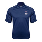 Navy Textured Saddle Shoulder Polo-Volleyball