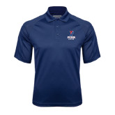 Navy Textured Saddle Shoulder Polo-Soccer