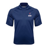 Navy Textured Saddle Shoulder Polo-Wrestling