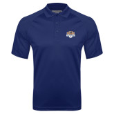 Navy Textured Saddle Shoulder Polo-The Palestra