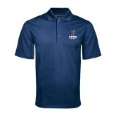 Navy Mini Stripe Polo-Soccer