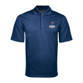 Navy Mini Stripe Polo-Rowing